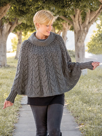 Women's Poncho Knitting Pattern