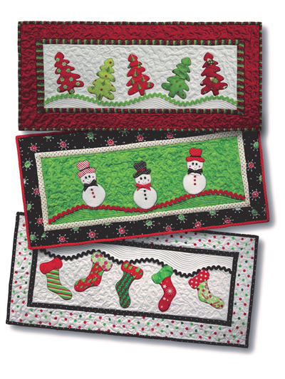 Christmas Table Runners To Make.Merry Merry Table Runner Pattern