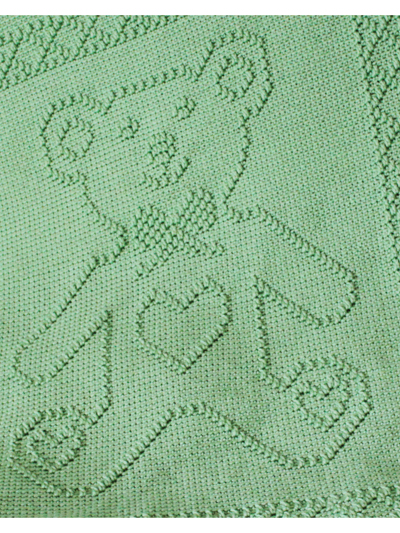 Baby Kids Crochet Blanket Patterns Teddy Bear Portrait Afghan