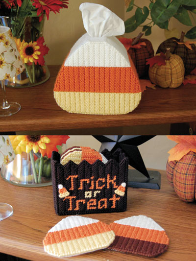 Candy Corn Accents Plastic Canvas Patterns