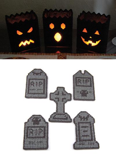 Creepy Halloween Decor Plastic Canvas Patterns