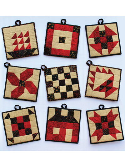 Pot Holder Quilting Patterns Quilted Pot Holder Patterns Page 1