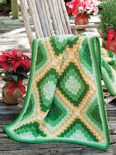 Crochet Patterns Out Of Print Patterns Festive Diagonal