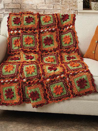 Crochet Afghan Downloads Autumn Popcorn Throw Crochet Pattern Awesome Variegated Yarn Crochet Patterns