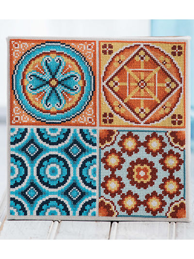Mosaic Tiles Cross Sch Pattern