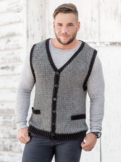 Crochet Patterns Print To Order Clothing Classic Mans Vest