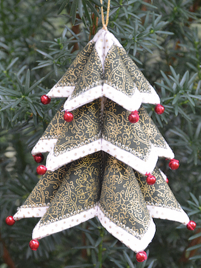 Fold N Stitch Christmas Tree Ornament Pattern
