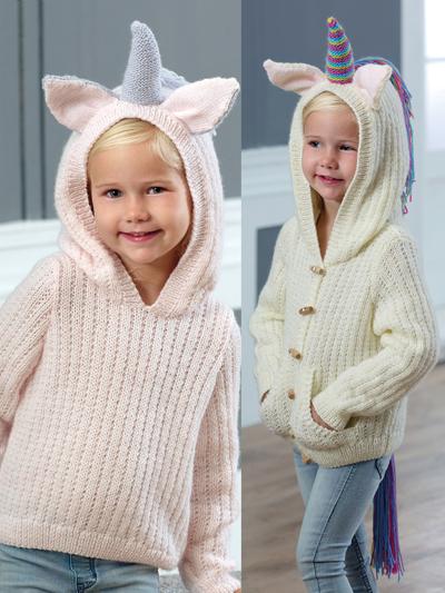 Knitting Patterns Supplies 5036 Unicorn Sweater Cardigan Knit