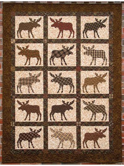 Applique Lap Quilt Patterns - Here Comes the Moose! Quilt Pattern : moose quilt - Adamdwight.com