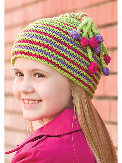 Knit Accessories For Babies Kids Bodacious Bobble Hat Knit Pattern