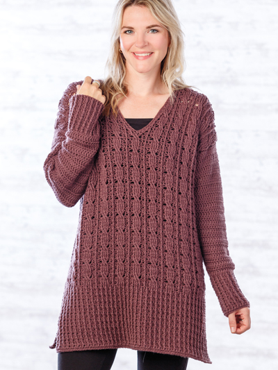 bd140f54f ANNIE S SIGNATURE DESIGNS  Inverin Sweater Crochet Pattern. loading. With a  stylish laid-back look