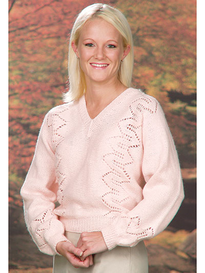 Top and Pullover Knitting Patterns - Side-to-Side Lace Sweater Knit ...