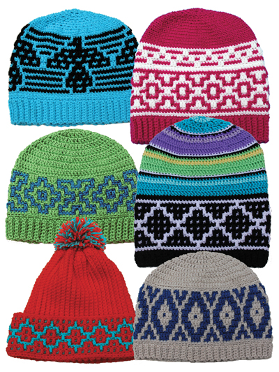 New Crochet Patterns Native American Hats