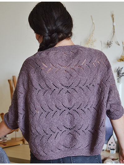 New Knitting Patterns - Iris Shrug Knit Pattern