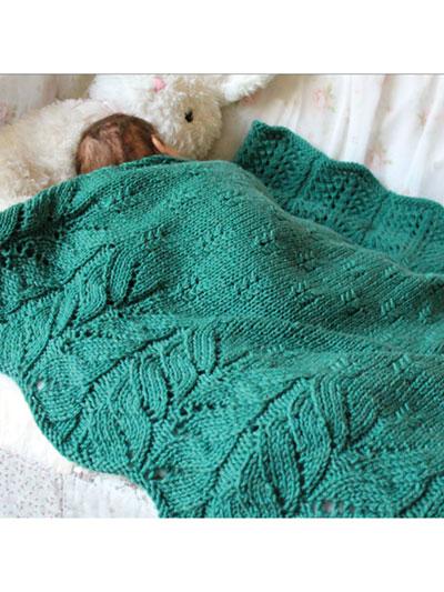 Knitting Patterns Supplies Bee Tree Blanket Knit Pattern