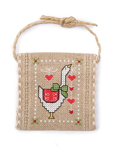 Needlework Patterns - Christmas Goose Ornament Cross Stitch Pattern
