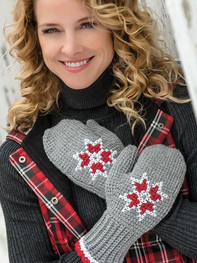 Crochet Hat Gloves Patterns Embroidered Tunisian Mittens Crochet
