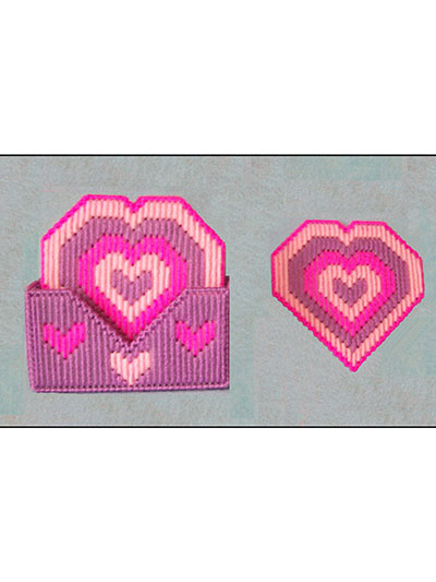 Heart Coasters plastic canvas pattern