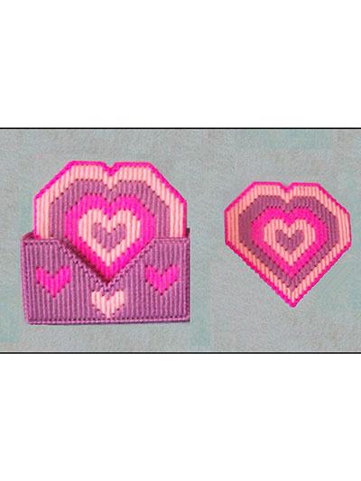 Heart Coasters plastic canvas pattern
