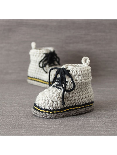 Crochet Baby Booties Socks Martens Style Baby Booties Crochet