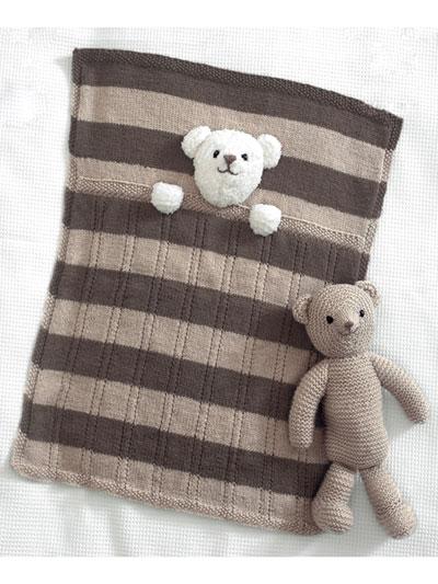 Animal Doll Toy Knitting Patterns 4005 Teddy Bear Blankets