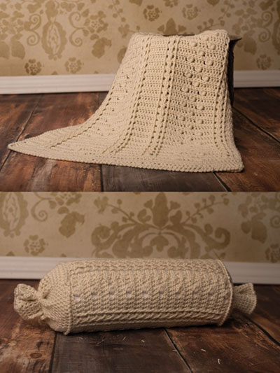 Crochet Patterns Braided Cable Blanket Throw Pillow Crochet Pattern
