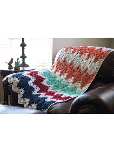 Crochet Patterns Basket Weave Chevron Afghan
