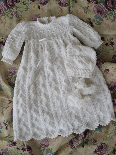 Heirloom Quality Christening Gown Knitting Pattern