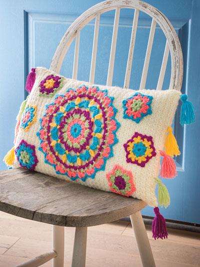 New Crochet Patterns Annies Signature Designs Bliss Pillow
