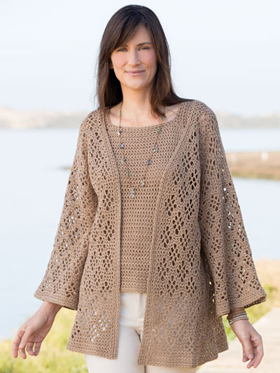 Annies Signature Designs Windway Cardigan Top Crochet Pattern