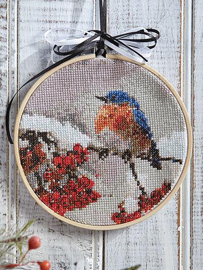 needlework cross stitch just crossstitch winter bluebird cross rh anniescatalog com needlework hannover needlework hannover