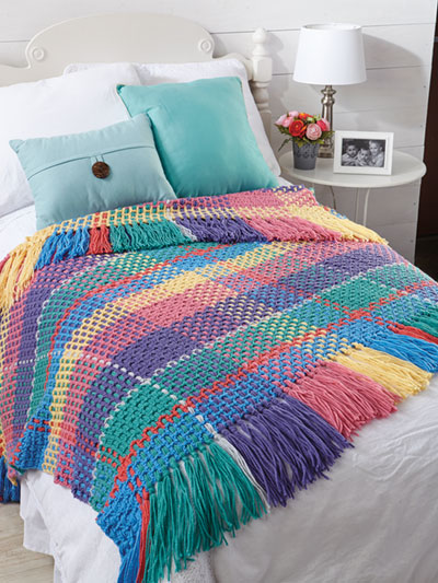 Celebration Plaid Afghan Crochet Pattern