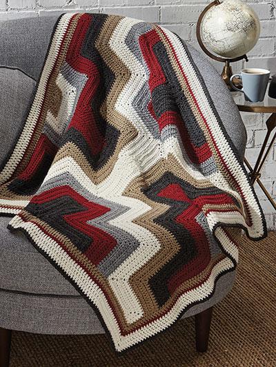 Crochet Afghan Downloads Navajo Hills Lap Robe Crochet Pattern