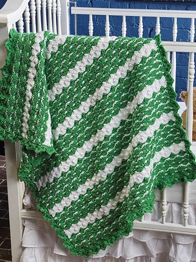 Shamrock Baby Blanket Crochet Pattern