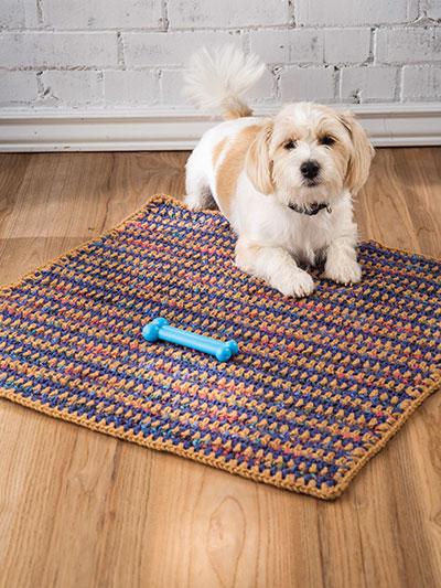 Crochet Patterns Snuggles Pet Blanket Crochet Pattern