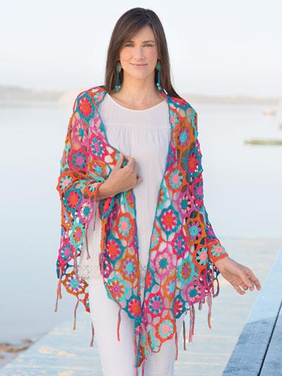 ANNIE'S SIGNATURE DESIGNS: Anemone Shawl & Earrings  Crochet Pattern
