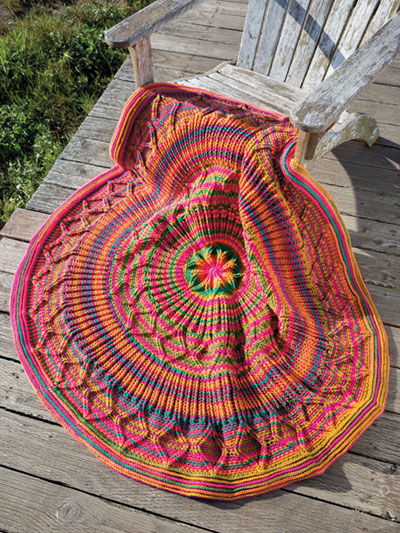 ANNIE'S SIGNATURE DESIGNS Alegria Afghan Crochet Pattern Interesting Crochet Patterns