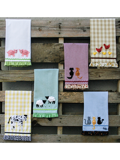 Country Critters Tea Towel Pattern