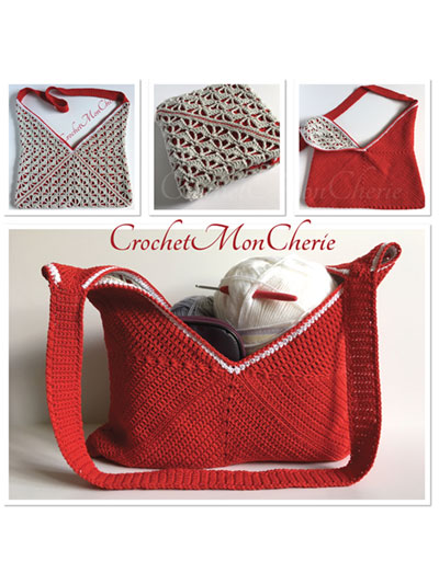 Crochet Handbag Patterns Simple Reversible Satchel Crochet Pattern