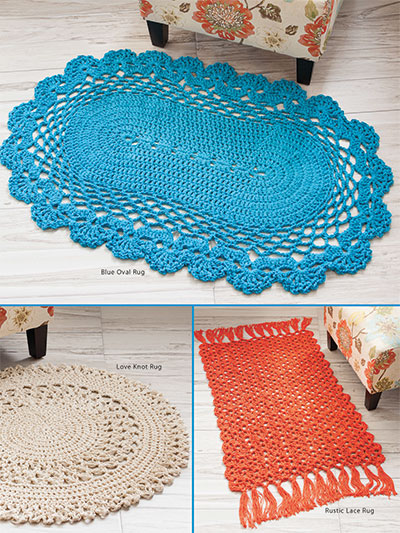 Crochet Rug Patterns Scatter Rugs