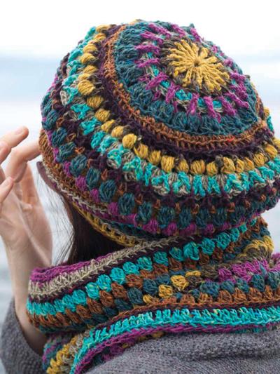 Crochet Hat Gloves Patterns Mandala Hat And Cowl Set Crochet Pattern
