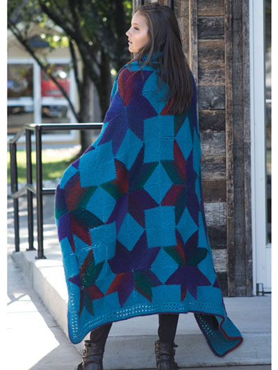 Starshade Afghan Knit Pattern