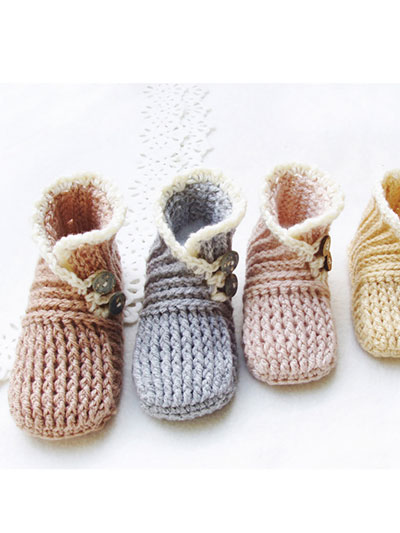 Crochet Baby Booties Socks Wrap And Button Baby Booties Crochet