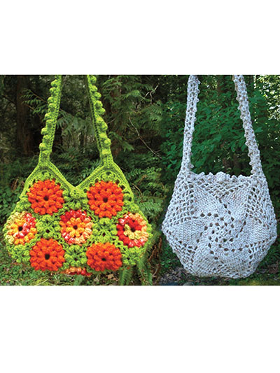 Crochet accessories accessory patterns garden of zinnias and whirligig bags dt1010fo