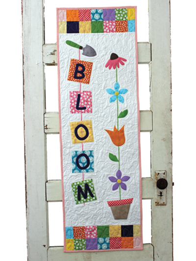 Applique Wall Quilt Patterns Bloom Wall Hanging Pattern