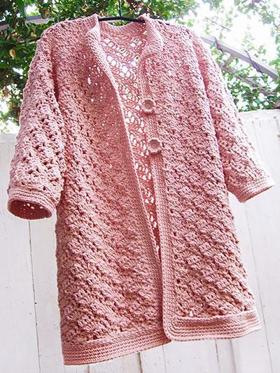 Baggy Lace Cardigan Crochet Pattern