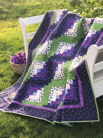 curved log cabin quilt block patterns