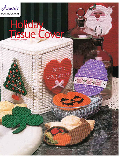 Holiday Plastic Canvas Patterns Holiday Tissue Cover Plastic