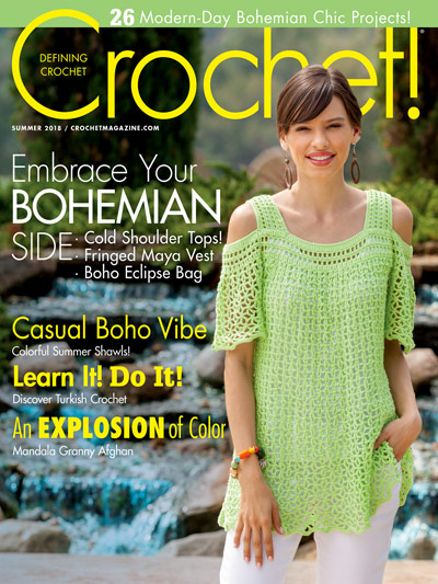 Crochet Magazine Patterns for Summer Casual BOHO Vibe