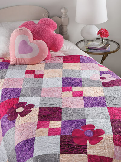 EXCLUSIVELY ANNIE'S QUILT DESIGNS: Shades of Pink Quilt Pattern